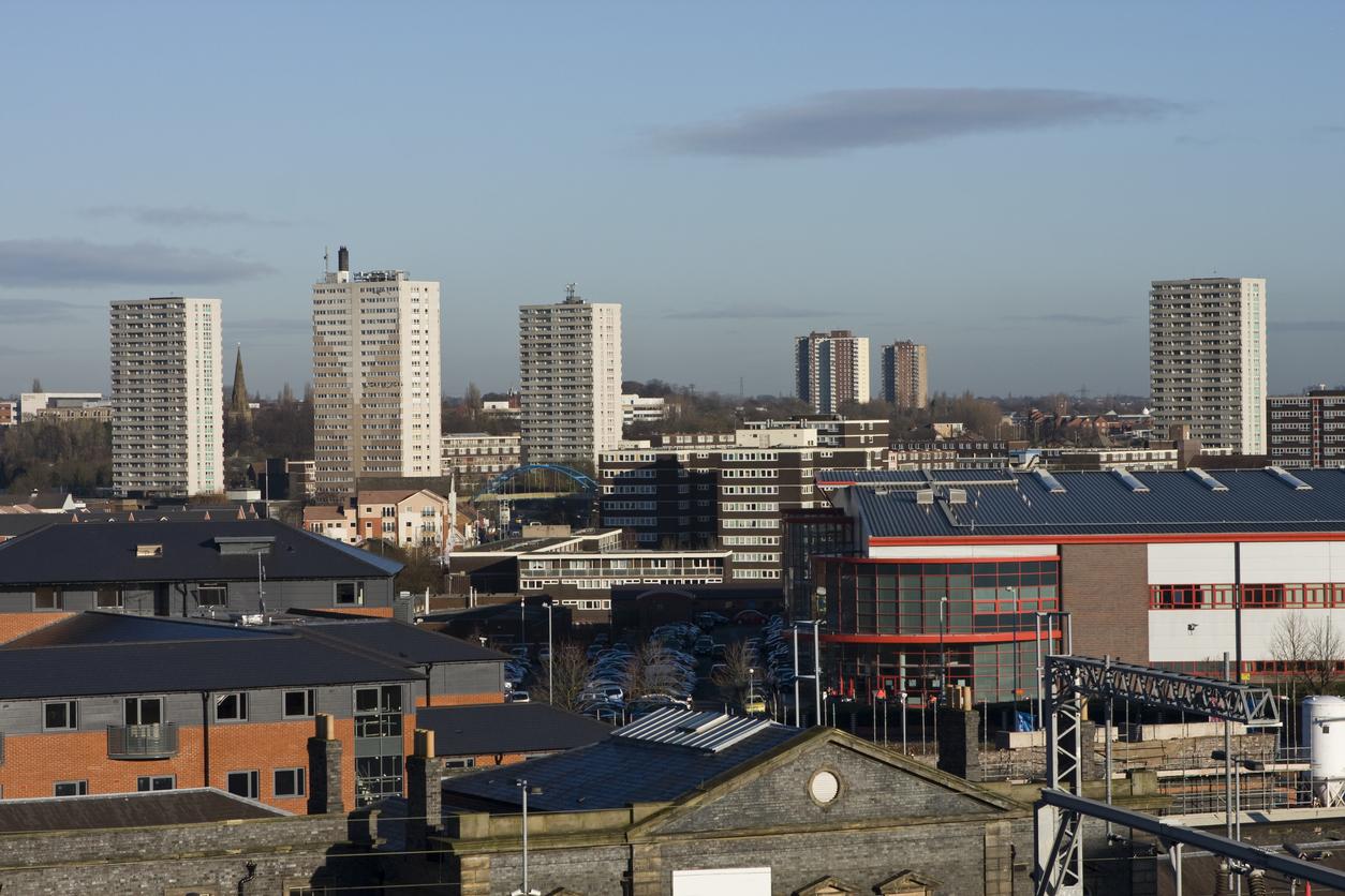 Wolverhampton urban skyline