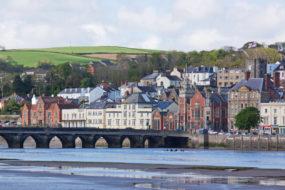 Scene on the river Torridge at the charming town of Bideford UK