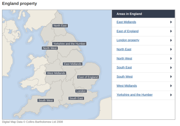 Rightmove property map